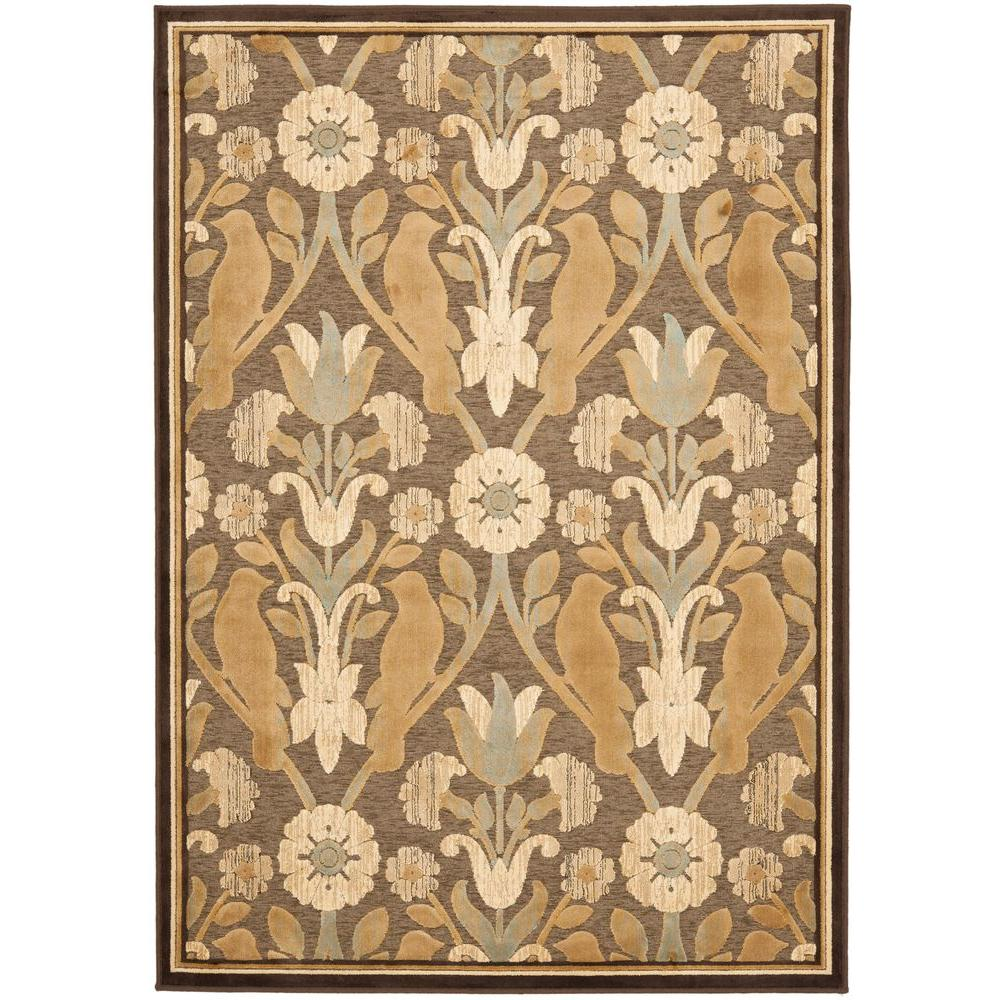 Paradise Brown 4 ft. x 5 ft. 7 in. Area Rug