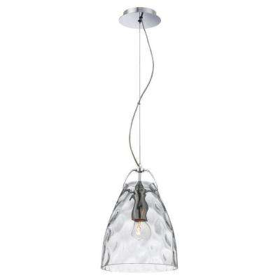 Amero Collection 1-Light Chrome and Clear Pendant