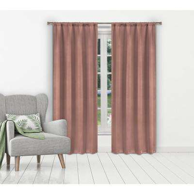 Ira Blush Blackout Panel Pair - 38 in. W x 84 in. L in (2-Piece)