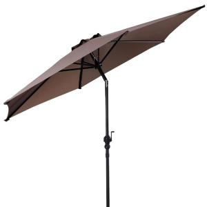 9 ft. Cantilever Outdoor Patio Umbrella with Crank in Tan