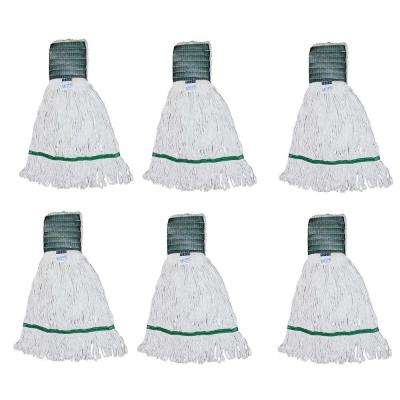 Medium 4-Ply Looped End Cotton Mop with 5 in. Band (6-Pack)