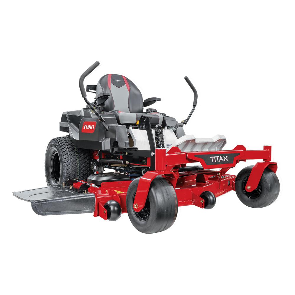 Toro 60 In Titan Ironforged Deck 24 5 Hp Commercial V Twin Gas Dual Hydrostatic Zero Turn Riding Mower With Myride 75313 The Home Depot