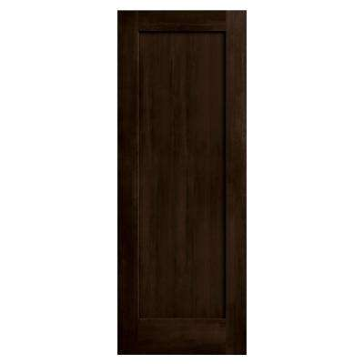 30 in. x 80 in. Madison Espresso Stain Molded Composite MDF Interior Door Slab
