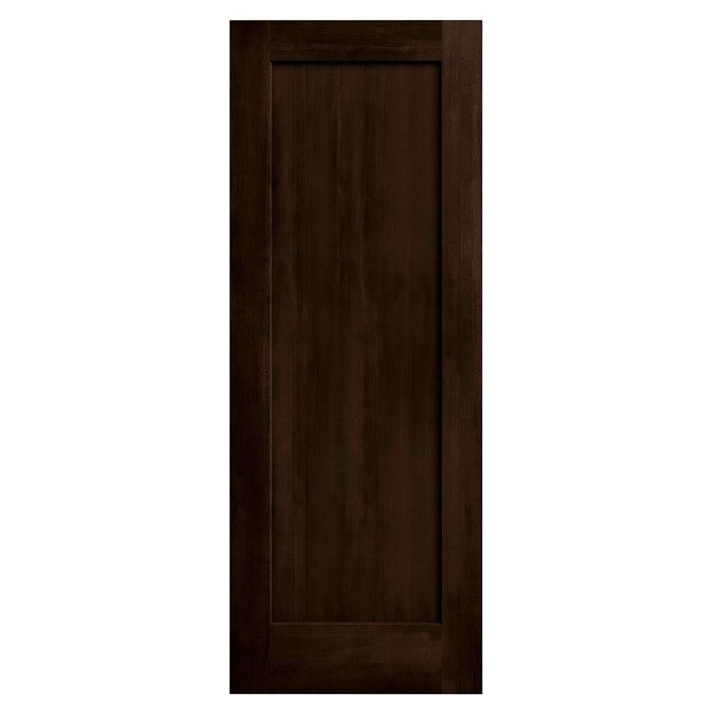 Jeld wen 24 in x 80 in madison espresso stain solid core for Solid core mdf interior doors