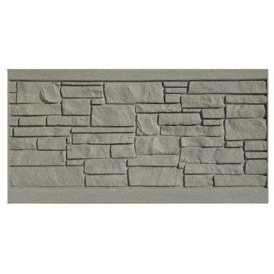 3 ft. H x 6 ft. W EcoStone Gray Composite Fence Panel