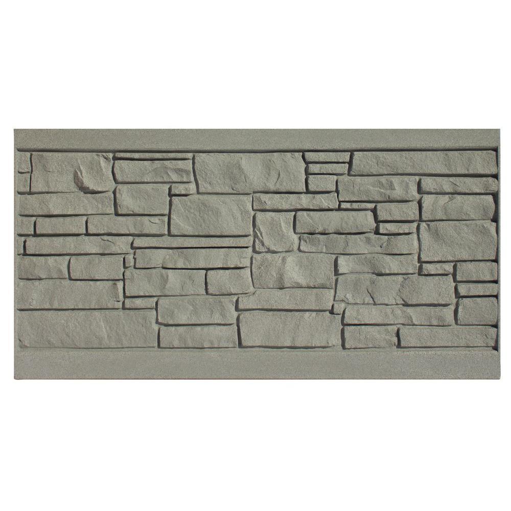 SimTek 3 ft. H x 6 ft. W EcoStone Gray Composite Fence Panel