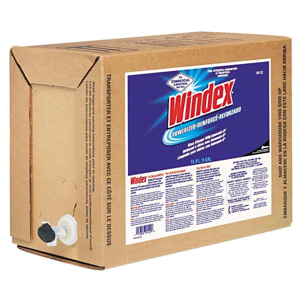 Windex 5 Gal. Bag-in-Box Dispenser Powerized Formula Glass and Surface Cleaner