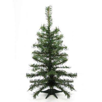 2 ft. x 10 in. Canadian Pine Medium Artificial Christmas Tree