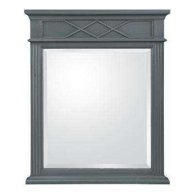 Rosamund 28 in. W x 34 in. H Wall Mirror in Charcoal Grey
