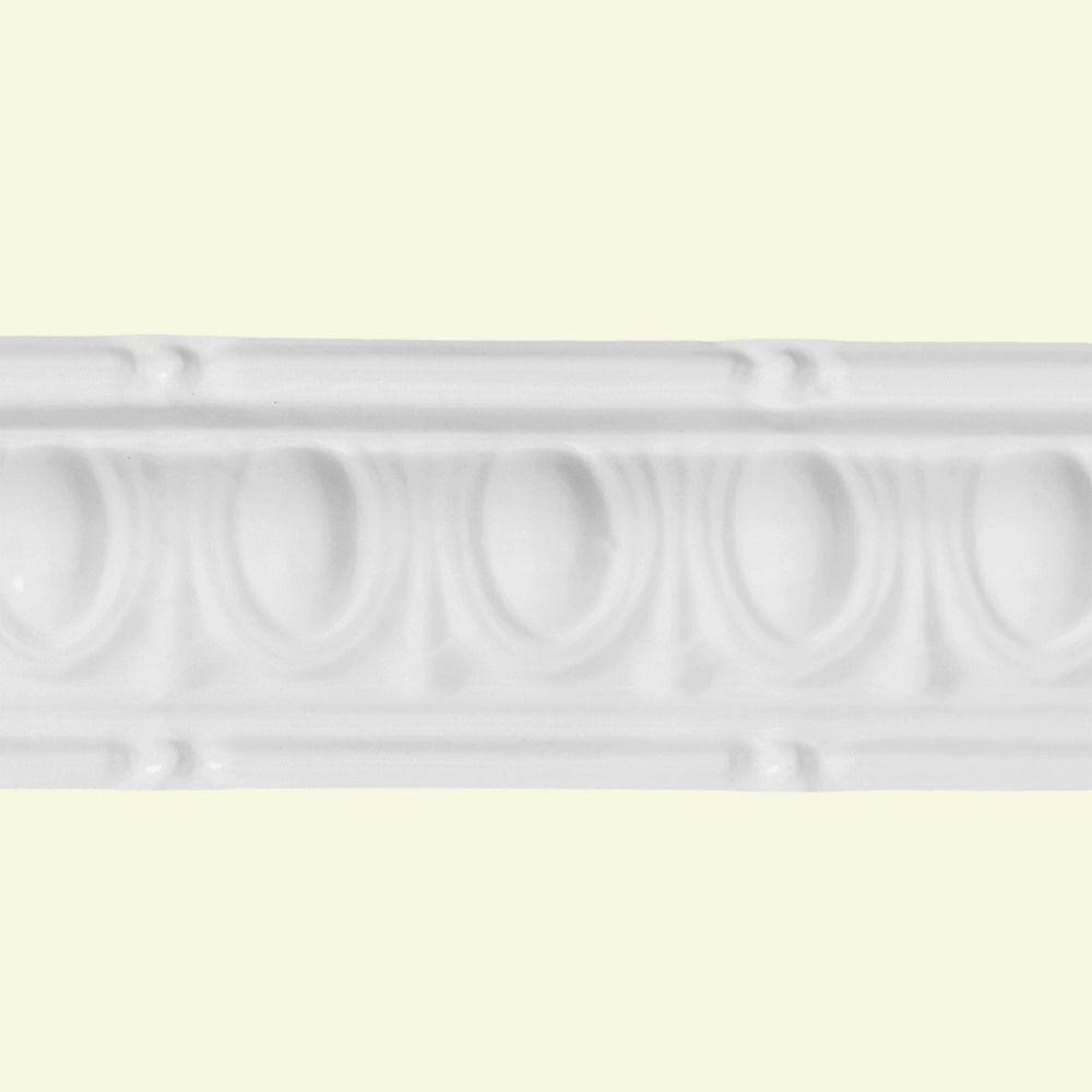 27 in. Huron Tin Molding in Matte White (2-Pack)