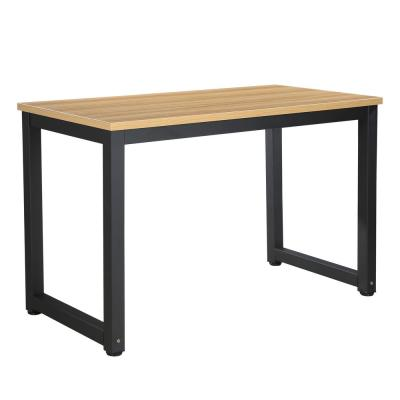 Daria Natural and Black Office Desk