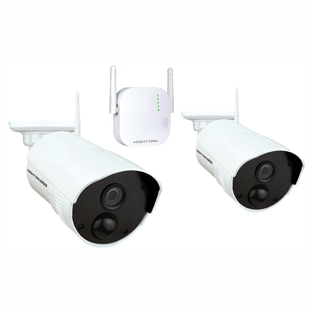Night Owl 4-Channel 1080p 16GB MicroSD Card Wireless Surveillance System  with 2-Wireless Cameras