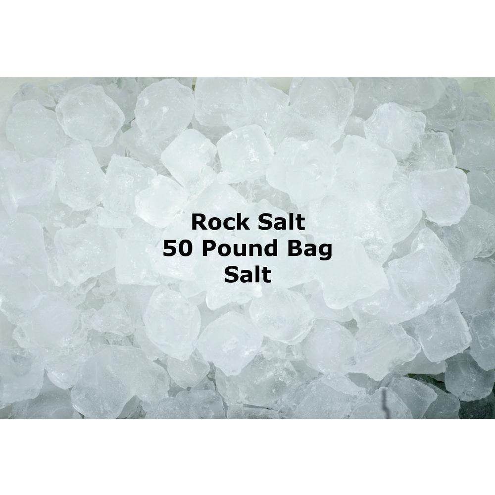 50 lbs  Rock Salt Bag-4664 - The Home Depot