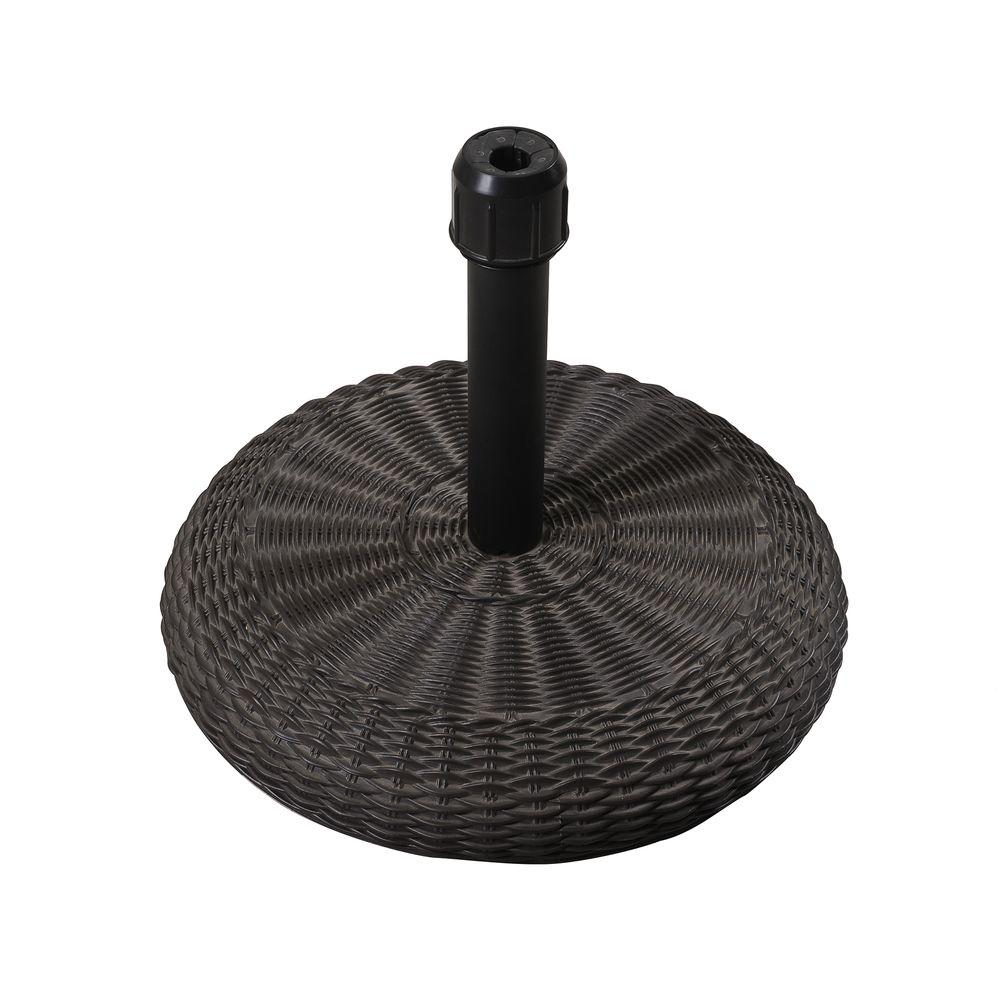 Monterey Wicker Look 35 lbs. Concrete Patio Umbrella Base in Black