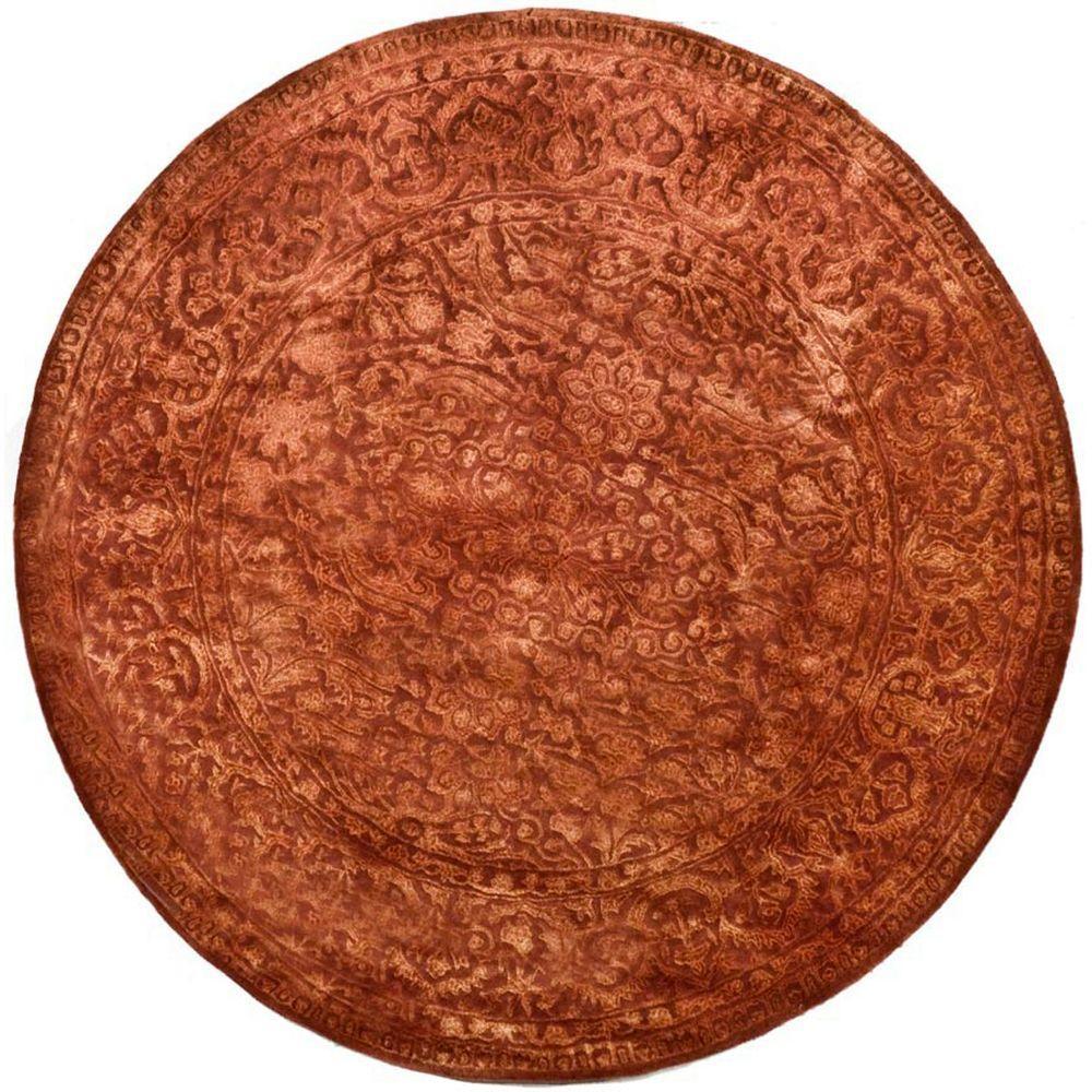 Safavieh Silk Road Rust 6 ft. x 6 ft. Round Area Rug