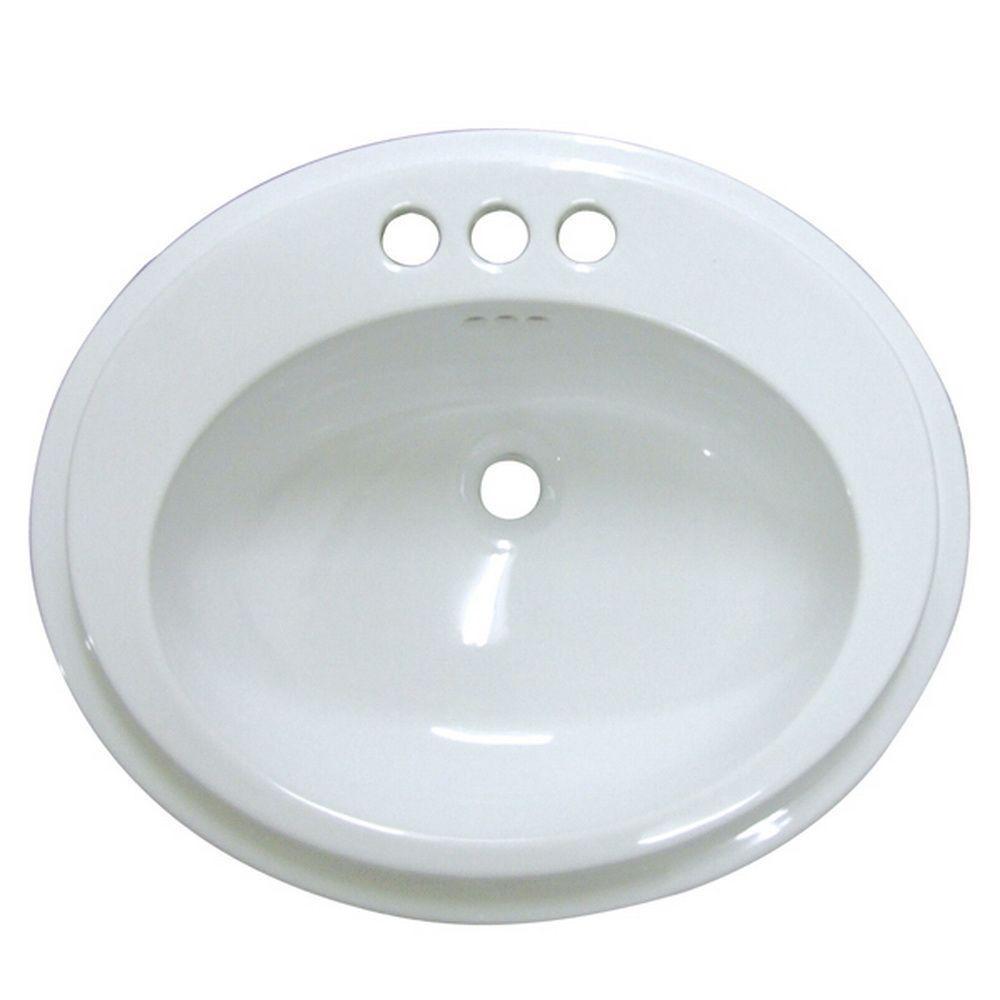 Kingston Brass Self-Rimming Bathroom Sink in White by Kingston Brass
