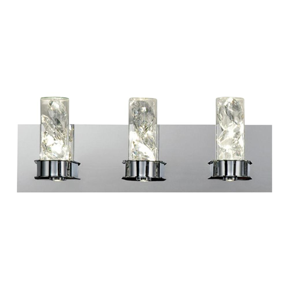 Home Decorators Collection York Collection 23-Watt Crystal Integrated LED Bath Light