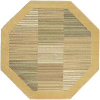 Everest Hampton's Sahara Tan 5 ft. 3 in. x 5 ft. 3 in. Octagon Area Rug