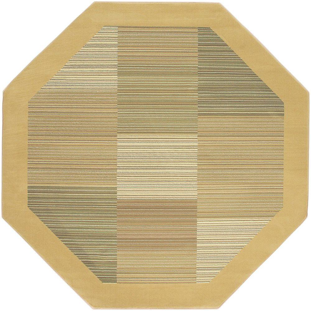 Couristan Everest Hampton's Sahara Tan 7 ft. 10 in. x 7 ft. 10 in. Octagon Area Rug