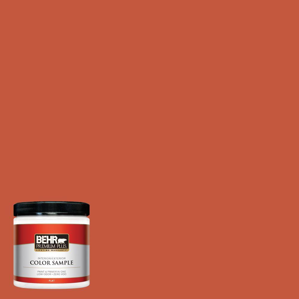 8 oz. #BIC-31 Fire Coral Interior/Exterior Paint Sample