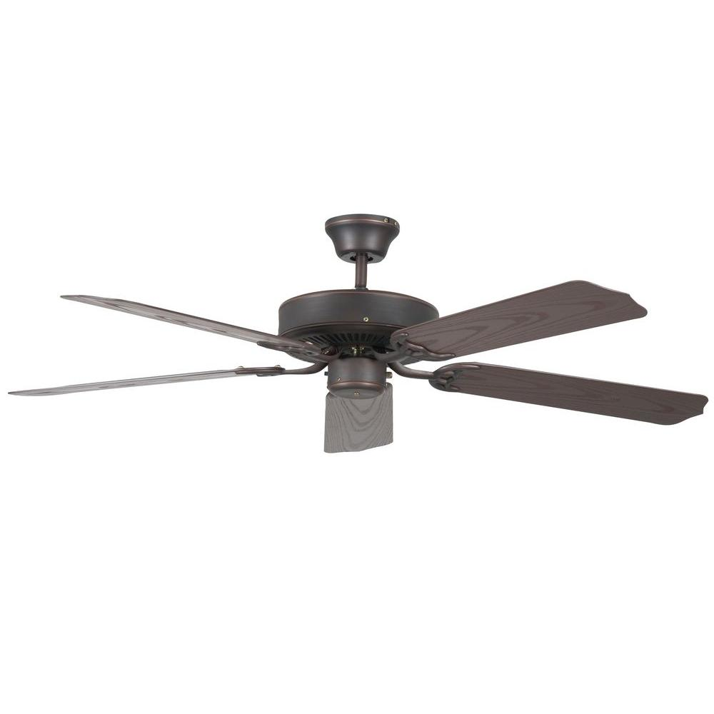 Oscillating Outdoor Ceiling Fan: TroposAir Mustang 18 In. Oscillating Rubbed Bronze Indoor
