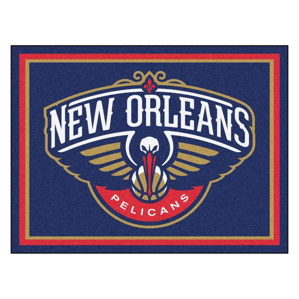 Fanmats nba new orleans pelicans navy blue 8 ft x 10 ft for Floor depot new orleans