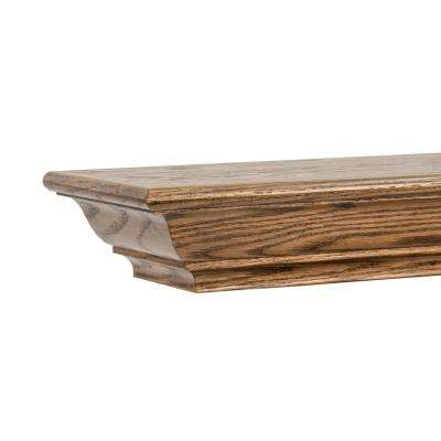 Traditional 5 ft. Pre-Finished Espresso Red Oak Made in USA Cap-Shelf Mantel