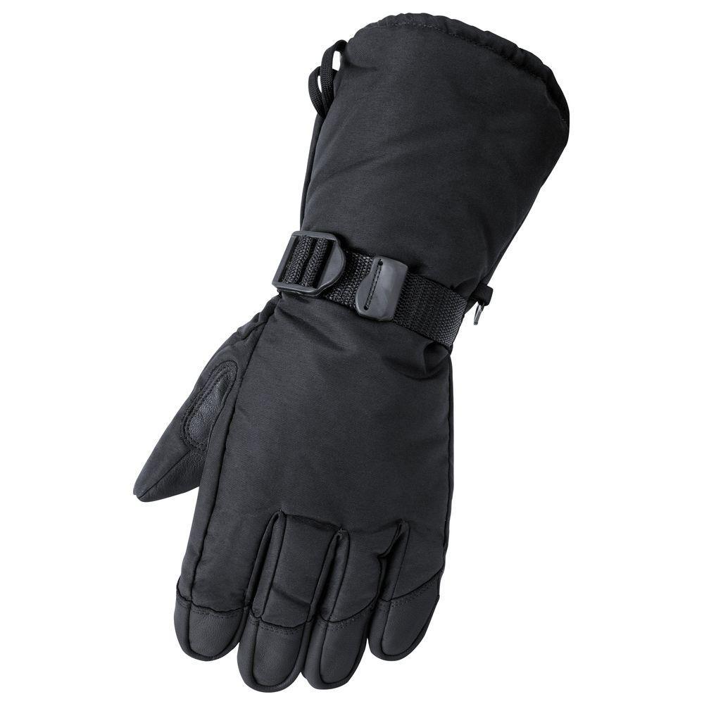 Deerskin Gauntlet Large Black Glove