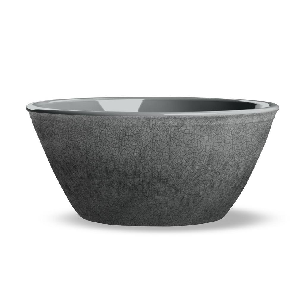 Potters Reactive Glaze Melamine Bowl Grey (Set of 6)