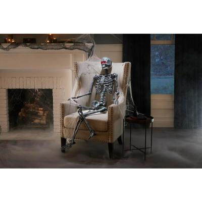 5 ft Hanging Plastic Ash Posable Skeleton with LED Eyes