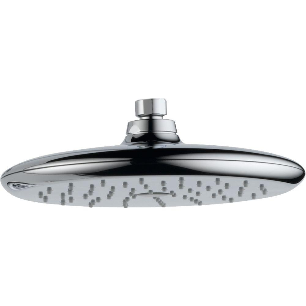 Delta Rizu 1-Spray 8-3/4 in. Fixed Shower Head in Chrome-RP52382 ...