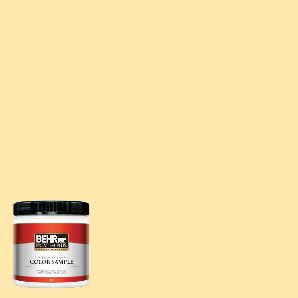 8 oz. #350B-4 Lemon Souffle Interior/Exterior Paint Sample