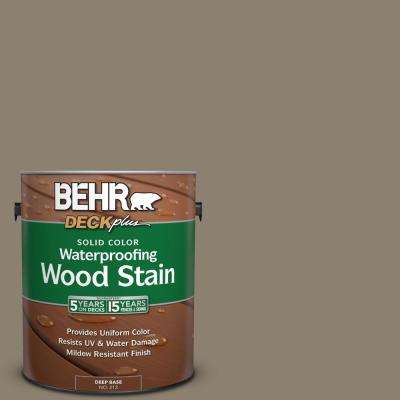 1 gal. #720D-5 Mocha Accent Solid Color Waterproofing Exterior Wood Stain