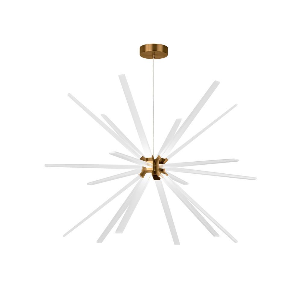 Photon 18-Light Aged Brass LED Chandelier