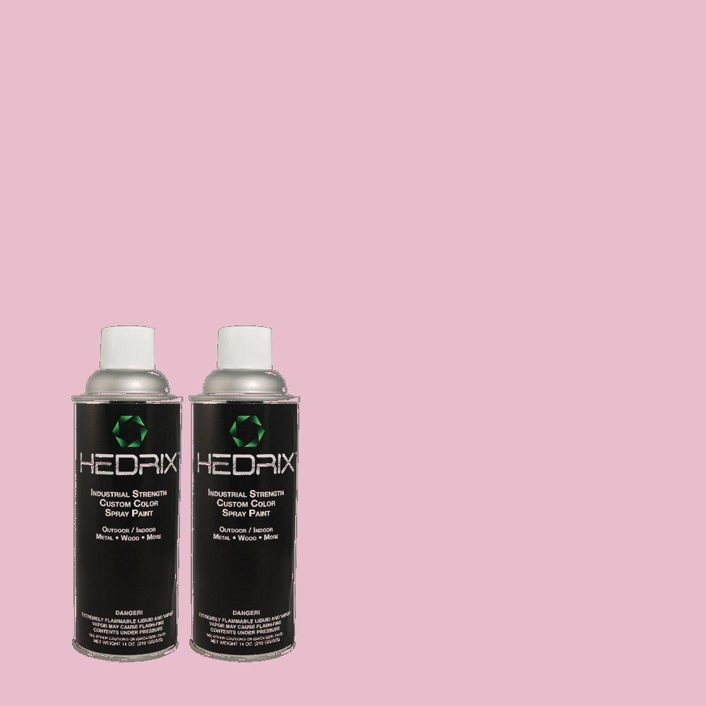 Hedrix 11 oz. Match of 2A32-3 Sachet Flat Custom Spray Paint (2-Pack)