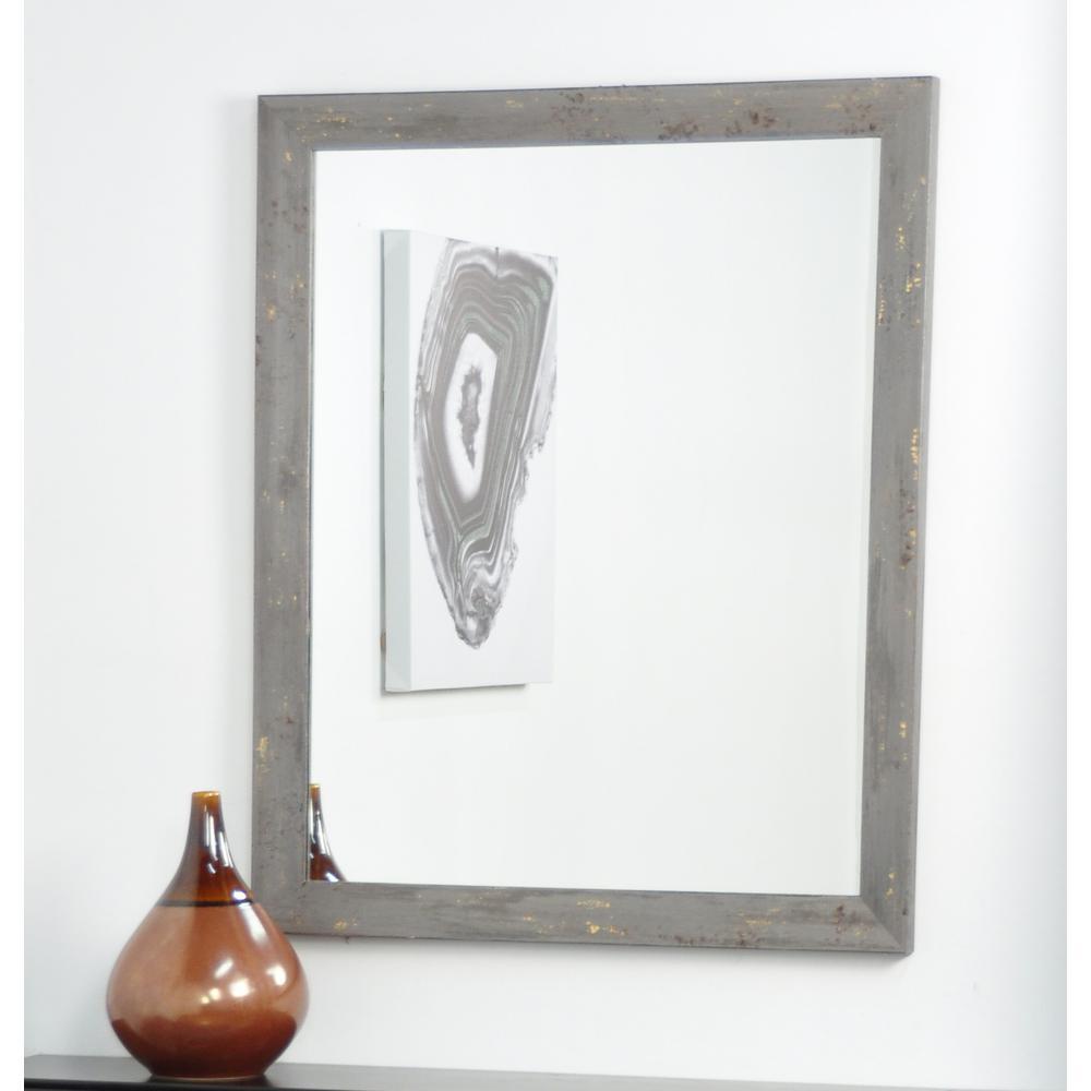 BrandtWorks Madame Gray Gold Leaf Wall Mirror BM050M