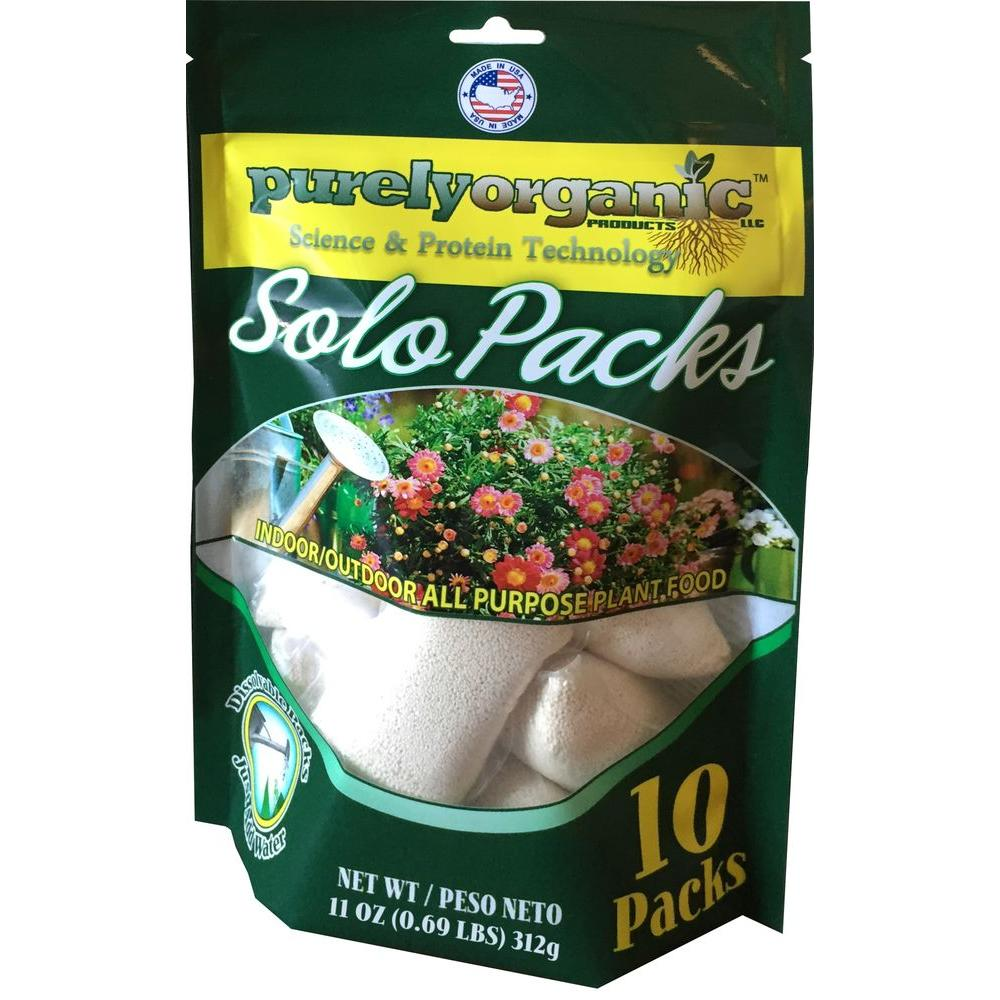 Purely Organic Products 0.69 lb. Organic Indoor/Outdoor Water Soluble Plant Food Solo Packs