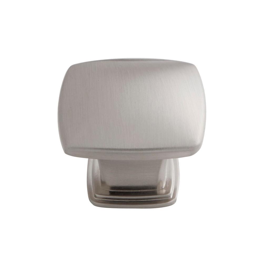 1.21 in. satin nickel Square Cabinet Knob (50-Pack)