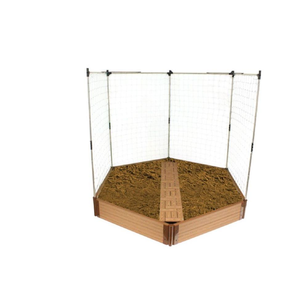 null Hexagon Raised Garden Bed with Garden Tiles and Veggie Wall --DISCONTINUED