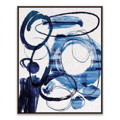 "23 in. x 29 in. ""True Blue"" by Nikki Chu Framed Printed Canvas Wall Art"