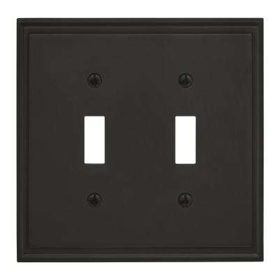 Mulholland 2 Toggle Black Bronze Wall Plate