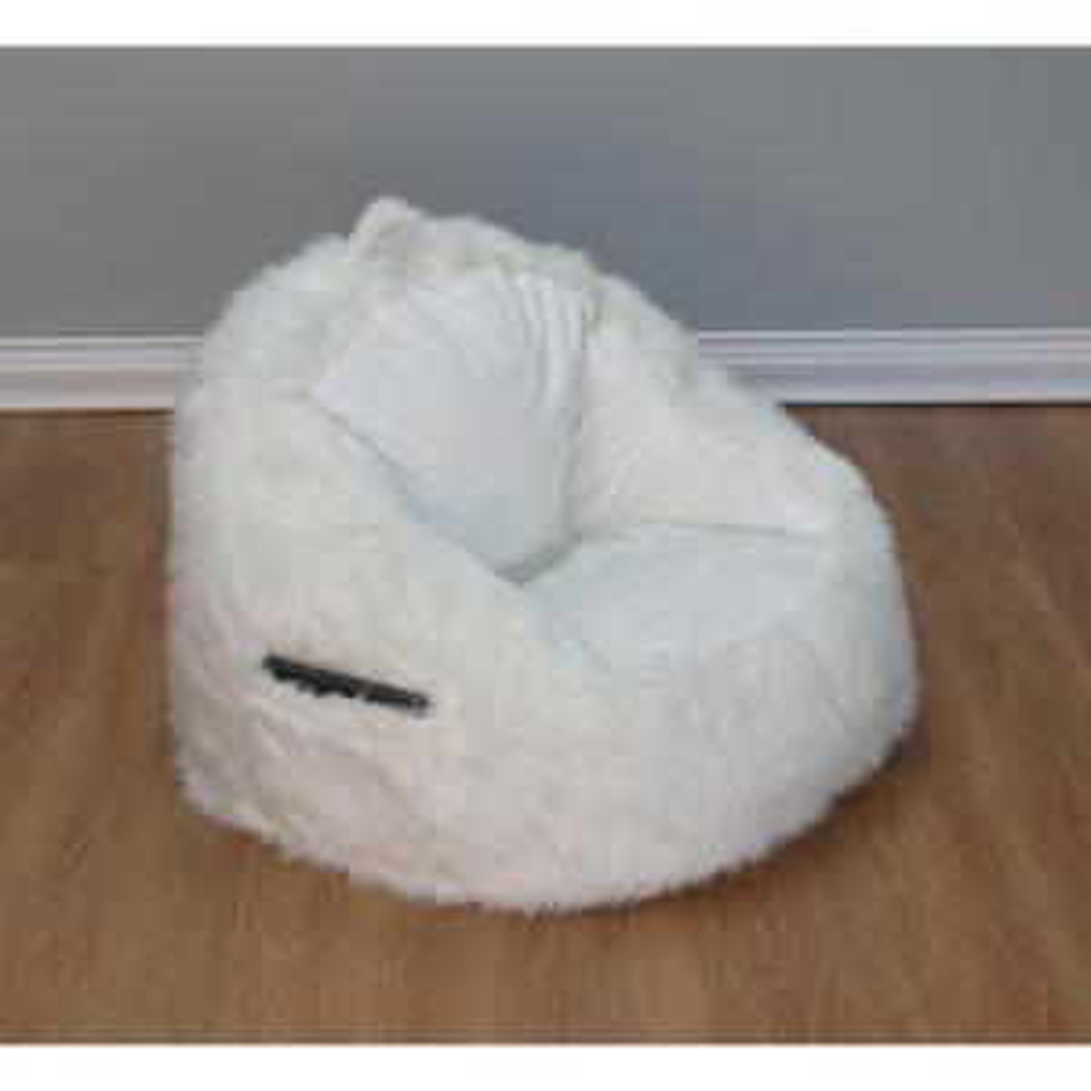 Fine Cream Fur Structured Bean Bag 9587001 The Home Depot Creativecarmelina Interior Chair Design Creativecarmelinacom