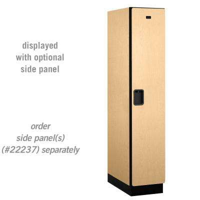 21000 Series Single-Tier 24 in. D 1-Compartment Extra Wide Designer Particle Board Locker in Maple