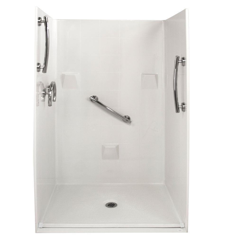 Ella Freedom 37 in. x 48 in. x 78 in. Barrier Free Roll-In Shower ...