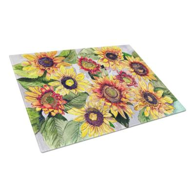 Sunflowers Tempered Glass Large Heat Resistant Cutting Board