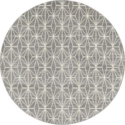 Uptown Collection by Jill Zarin Fifth Avenue Gray 8' 0 x 8' 0 Round Rug