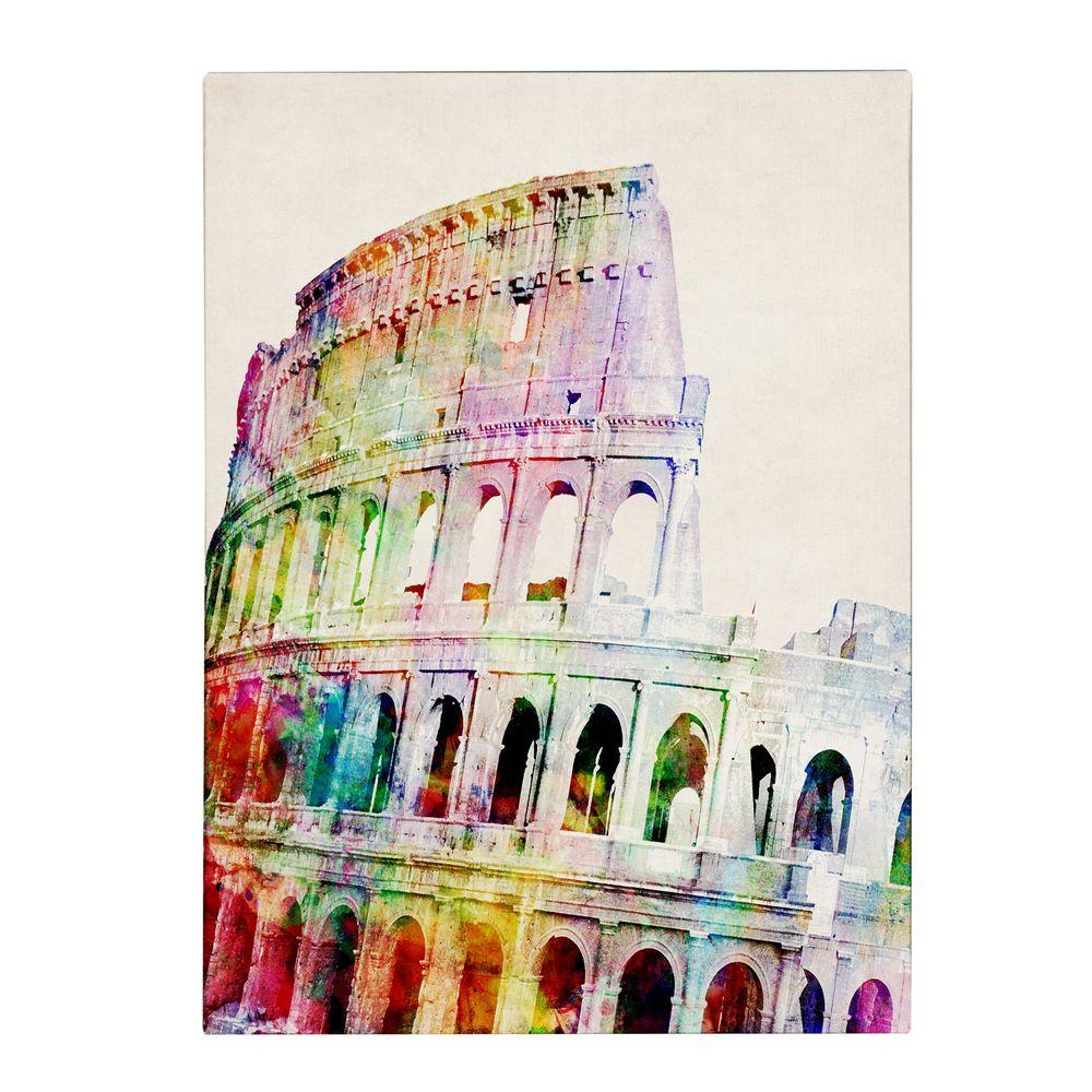 47 in. x 35 in. Colosseum Canvas Art