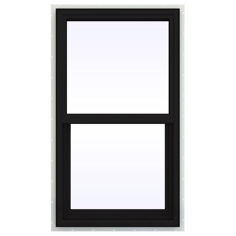JELD-WEN 23.5 in. x 35.5 in. V-4500 Series Single Hung Vinyl Window - Black