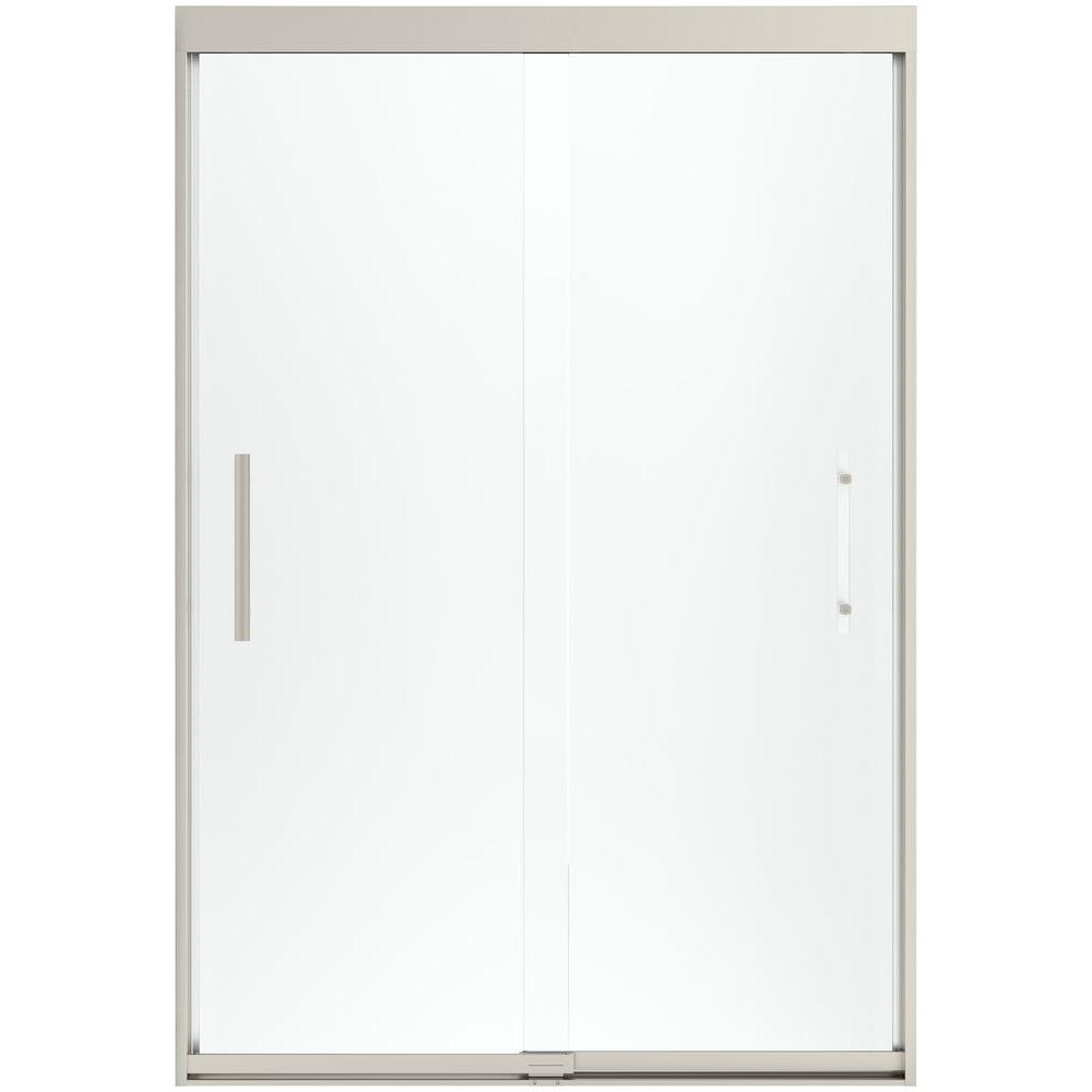 STERLING Finesse 47-5/8 in. x 70-1/16 in. Heavy Sliding Shower Door in Nickel with Handle
