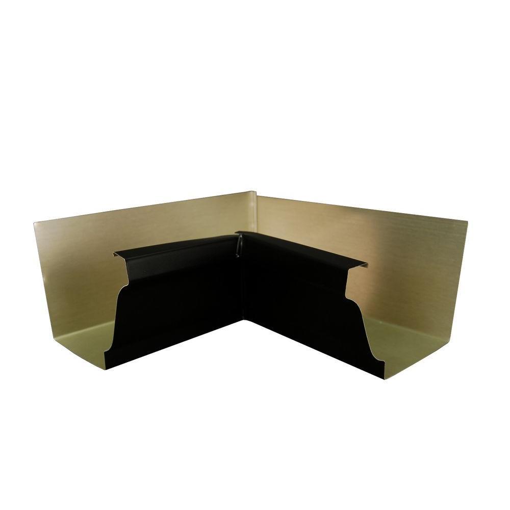 6 in. Black Aluminum Inside Box Gutter Miter